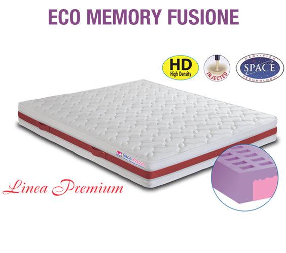 Materasso Memoria Di Forma.Materasso Eco Memory Fusione Sana System